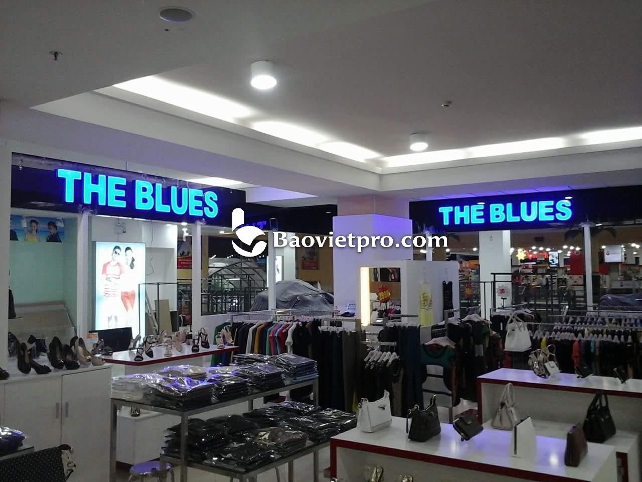 Chữ nổi Inox mặt Mica The Blues